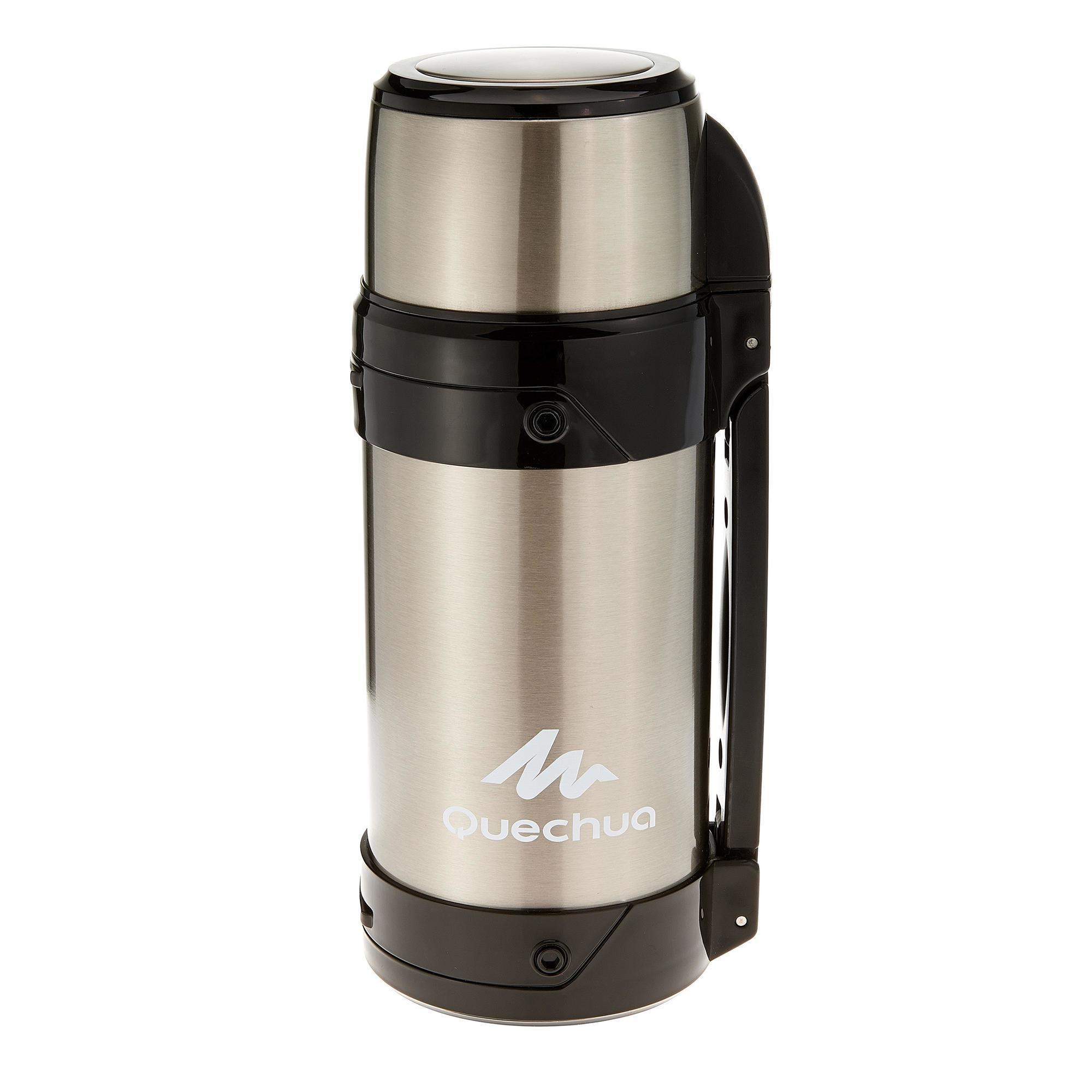 stainless steel hiking thermos 1 5 litre quechua. Black Bedroom Furniture Sets. Home Design Ideas