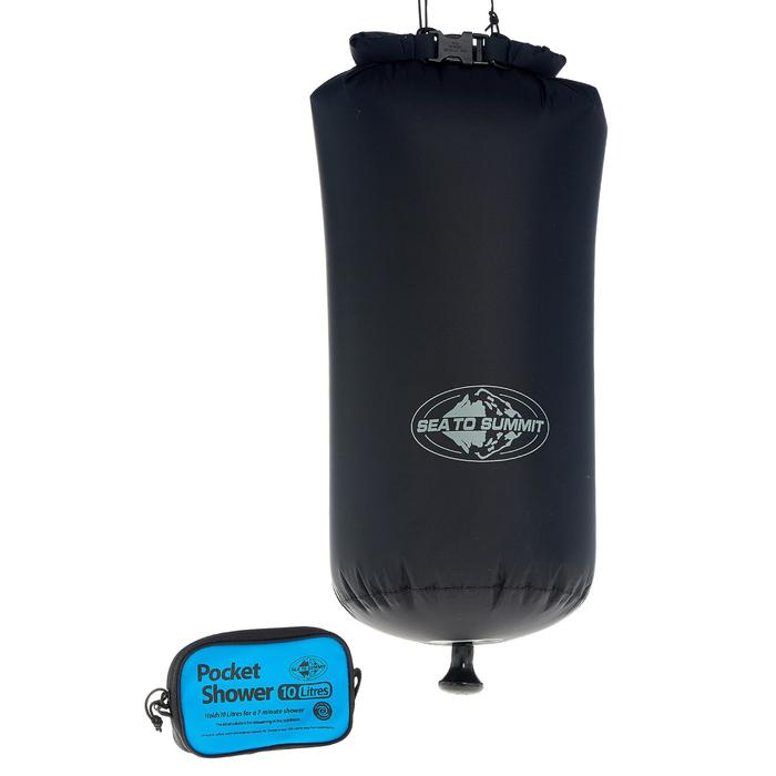 Compacte campingdouche van 10 l voor kamperen en trekking Sea To Summit