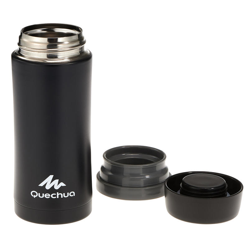 Mountain Hiking Isothermal Stainless Steel Mug 0.35L - Black