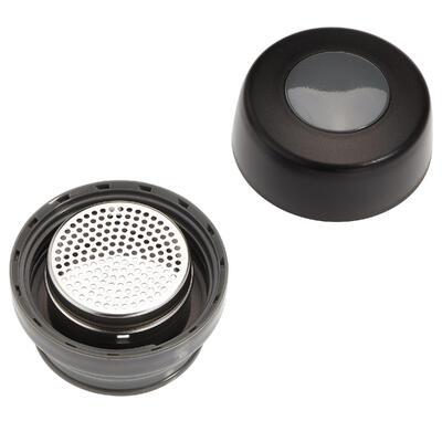 Термочашка з неіржавної сталі для туризму 0,35 л - Чорна