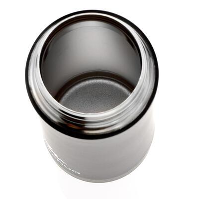 Mug isotermo de senderismo de acero inoxidable 0,35 L Negro
