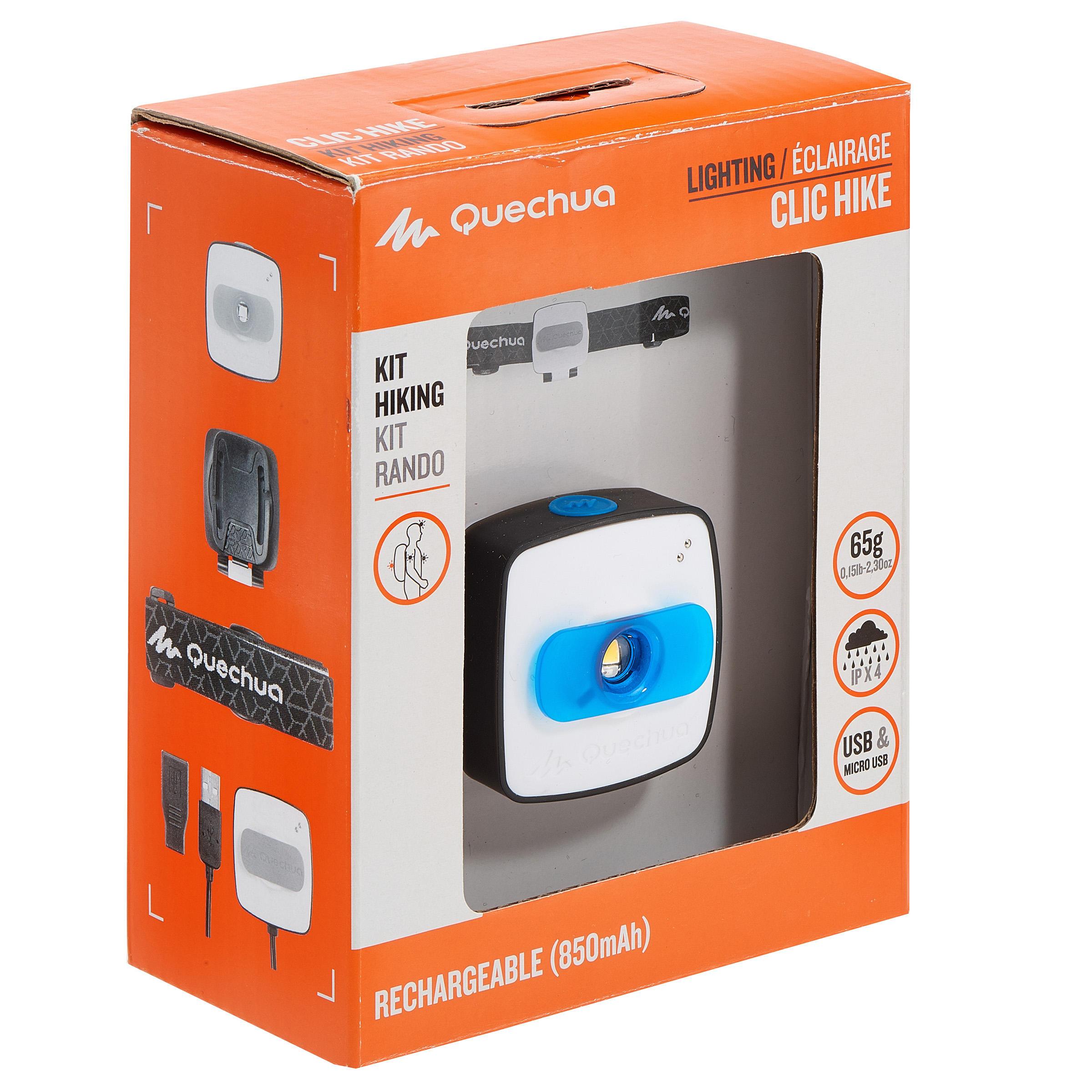 60 L CLIC LIGHTING KIT FOR HIKING - BLUE