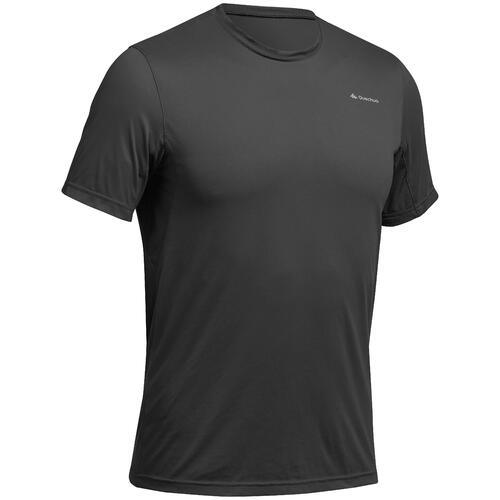 Tee Shirt respirant Randonnée Tech Frech 50 homme Gris Foncé