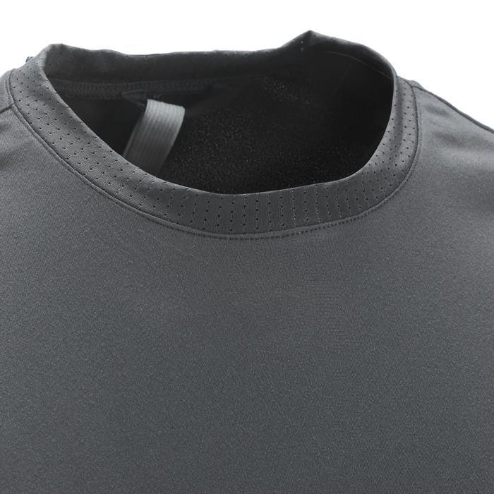 男款登山健行短袖T恤MH100-深灰色