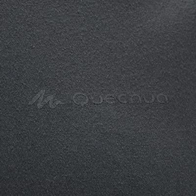 Camiseta de senderismo montaña MH100 manga corta hombre gris oscuro