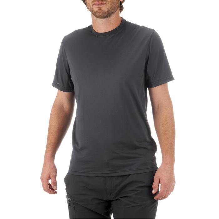 Tee Shirt Randonnée montagne MH100 manches courtes homme Gris Foncé - 431629