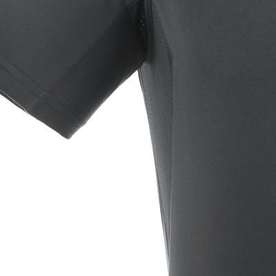 Чоловіча футболка MH100 з коротким рукавом для гірського хайкінгу - Темно-сіра