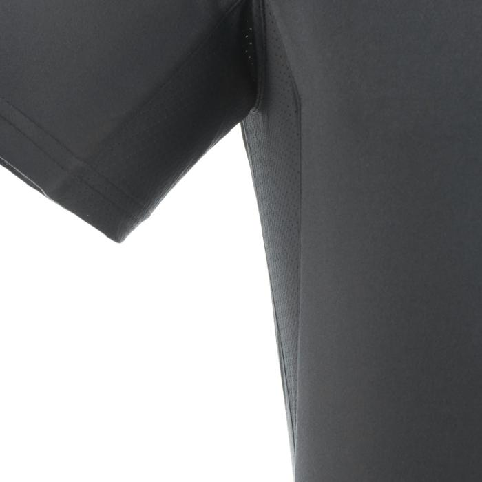 MH100 Men's Mountain Walking Short-sleeved Shirt - Dark Grey