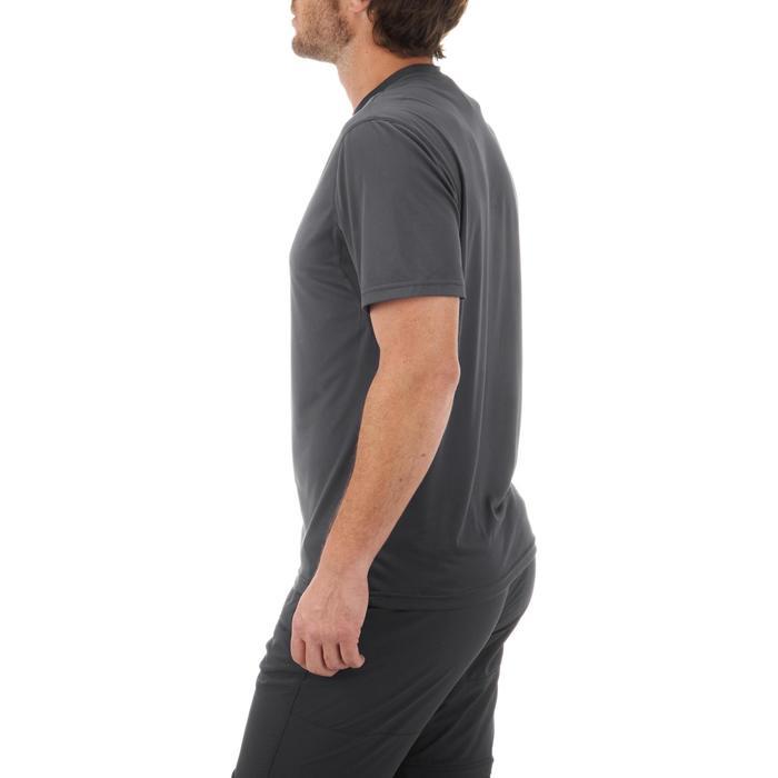 Tee Shirt Randonnée montagne MH100 manches courtes homme Gris Foncé - 431633