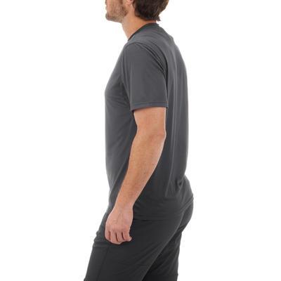 חולצת טי קצרת שרוולים להרים מסוג MH100 לגברים - אפור כהה