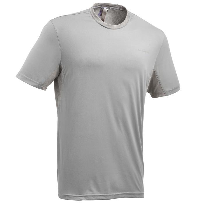 Camiseta de senderismo en montaña MH100 de manga corta hombre gris