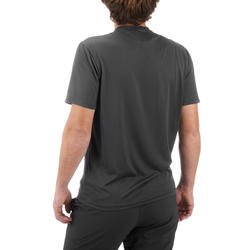 T-shirt de randonnée montagne MH100 manches courtes homme gris foncé