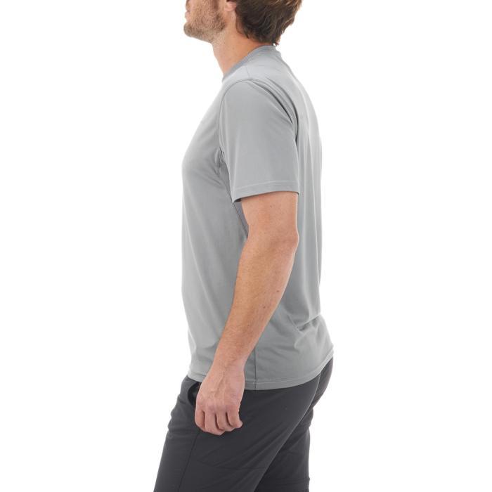 男款登山健行短袖T恤MH100-灰色