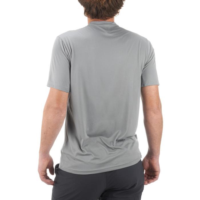 Camiseta manga corta de Montaña y Trekking Forclaz MH100 Hombre Gris