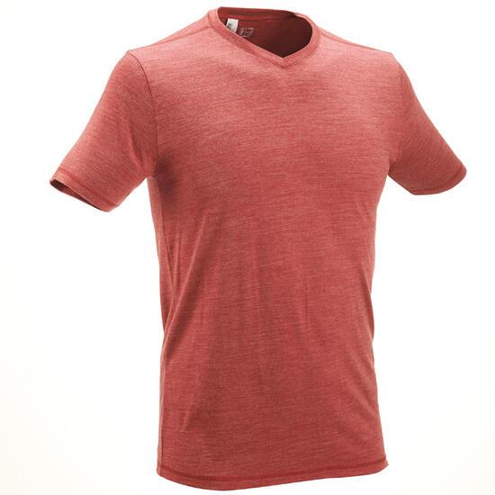 T-shirt korte mouwen Trekking Techwool 155 heren - 431701
