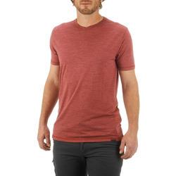 T-shirt korte mouwen Trekking Techwool 155 heren - 431710