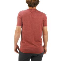 T-shirt korte mouwen Trekking Techwool 155 heren - 431712