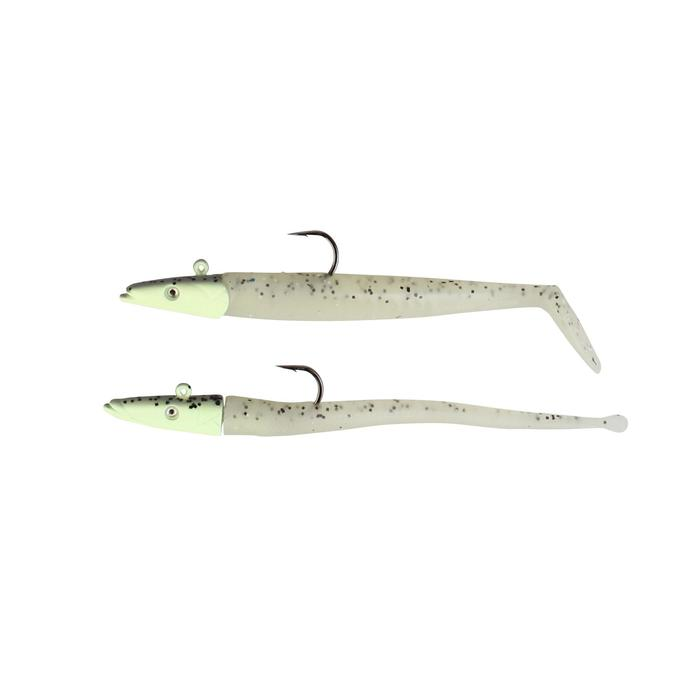 Leurres souples Sandeel & slug 10cm pearl x4 pêche en mer