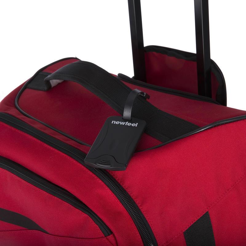 ที่ใส่ป้ายชื่อติดกระเป๋าเดินทางแพ็ค 2 ชิ้น (สีดำ)