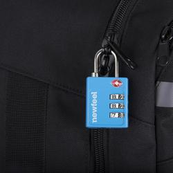 Candado Código Viaje Senderismo Newfeel TSA Travel Azul