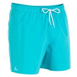 Boardshort corto hombre Hendaya azul turquesa