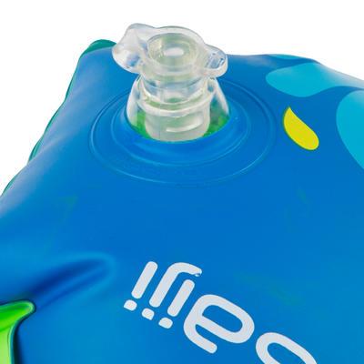 "Flotadores de brazo inflables estampado para niños azules ""ZEBRO"" 11-30 kg"