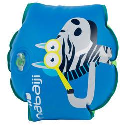 "Flotadores inflables brazos azules para niños estampado  ""ZEBRO"" 11-30 kg"