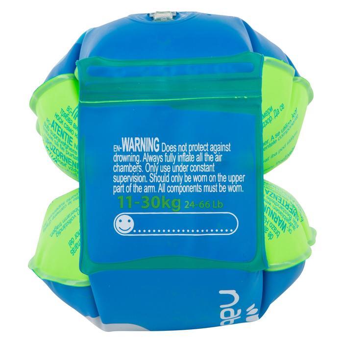 """Brassards de natation enfant bleus imprimés """"ZEBRE"""" - 432979"""