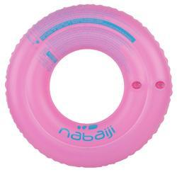 """Flotador inflable de 51 cm azul con estampado """"JIRAFA"""" para niños de 3-6 años"""