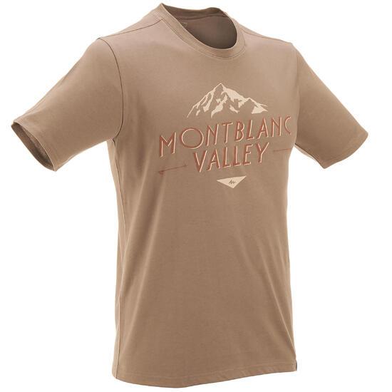 Wandel T-shirt met korte mouwen voor heren Techtil 100 gemêleerd - 433086