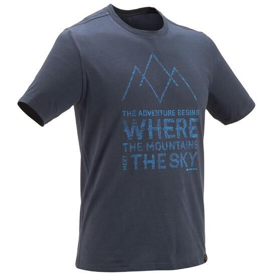 Wandel T-shirt met korte mouwen voor heren Techtil 100 gemêleerd - 433118