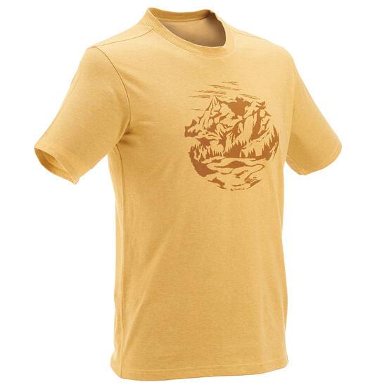 Wandel T-shirt met korte mouwen voor heren Techtil 100 gemêleerd - 433141