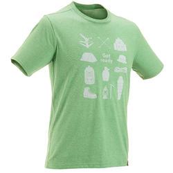 Wandel T-shirt met korte mouwen voor heren Techtil 100 gemêleerd - 433169