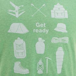Wandel T-shirt met korte mouwen voor heren Techtil 100 gemêleerd - 433175