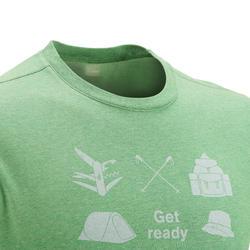 Wandel T-shirt met korte mouwen voor heren Techtil 100 gemêleerd - 433177