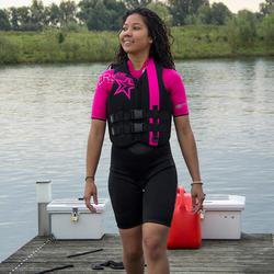 Damesdrijfvest Progress Neo roze (ISO) voor gemotoriseerde watersporten - 433609