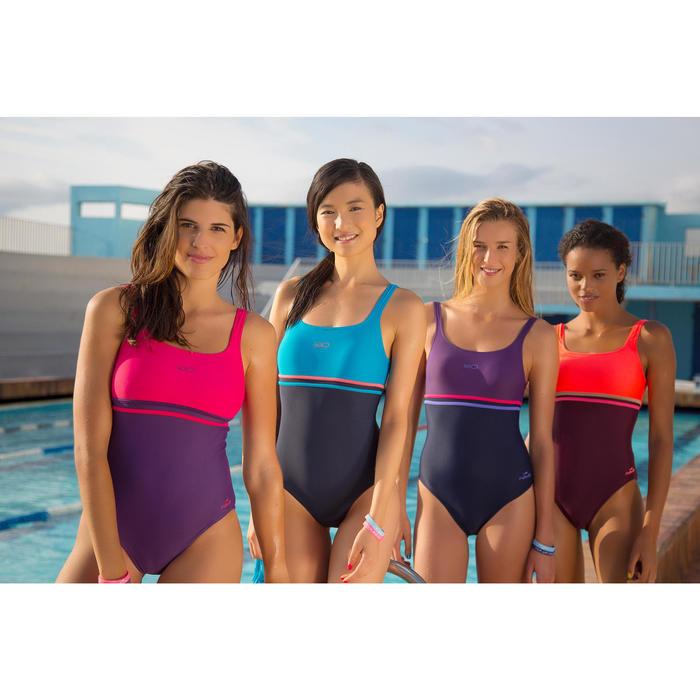 Maillot de bain de natation une pièce femme Loran corail - 433627
