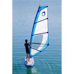 Planche à voile gonflable 320L adaptée à l'apprentissage du windsurf.