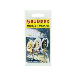 Lepels voor hengelsport Suissex-set forel rivierbaars - 435299
