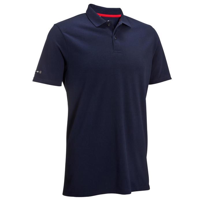 Golfpolo met korte mouwen voor heren marineblauw