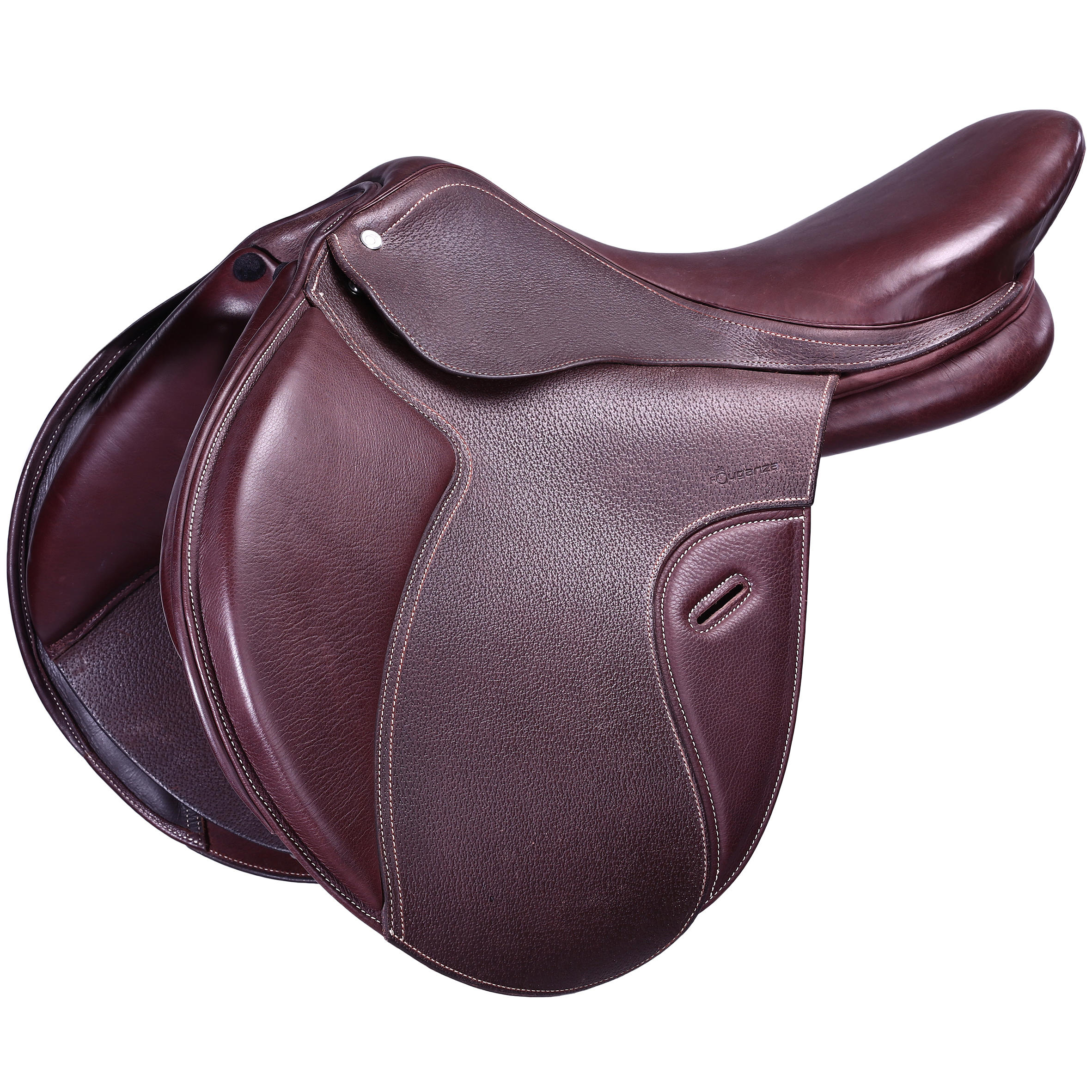Horse Riding Paddock Adjustable Tree Leather Saddle 17.5_QUOTE_-Brown