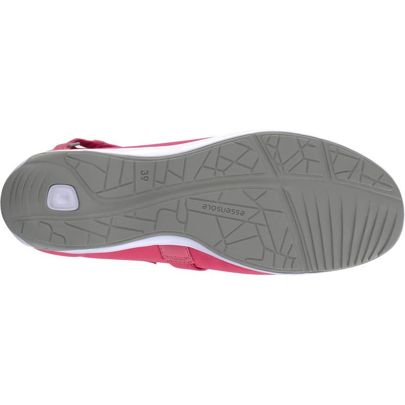 Baoma women's everyday walking ballerina pumps - pink/grey