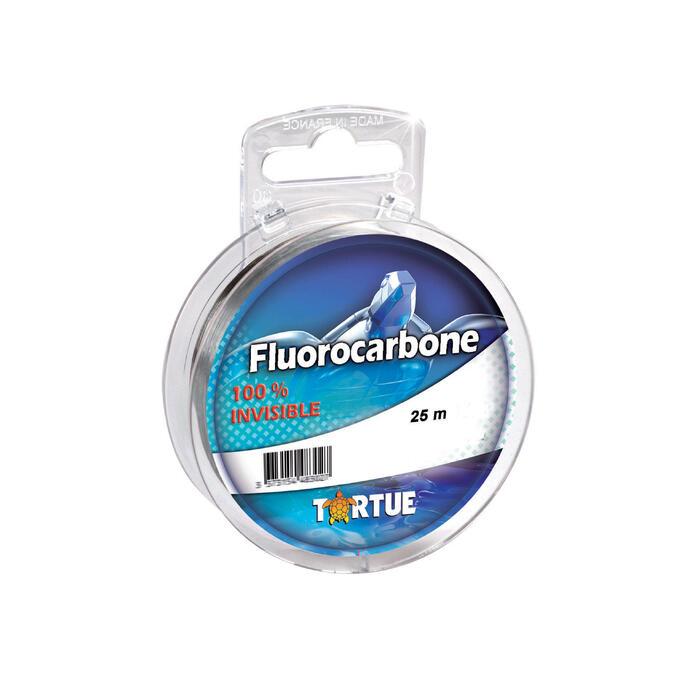 FIL PECHE A LA MOUCHE FLUOROCARBONE 25M 15/100