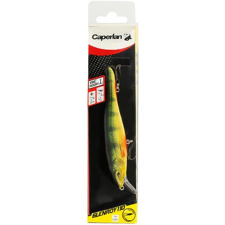 Señuelo Pez nadador flotante para pesca Glenroy 110 Perca