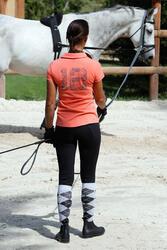 Werksingel ruitersport zwart voor pony's en paarden - 437824