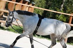 Werksingel ruitersport zwart voor pony's en paarden - 437826
