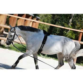 Sobrecincha de trabajo equitación poni y caballo negro