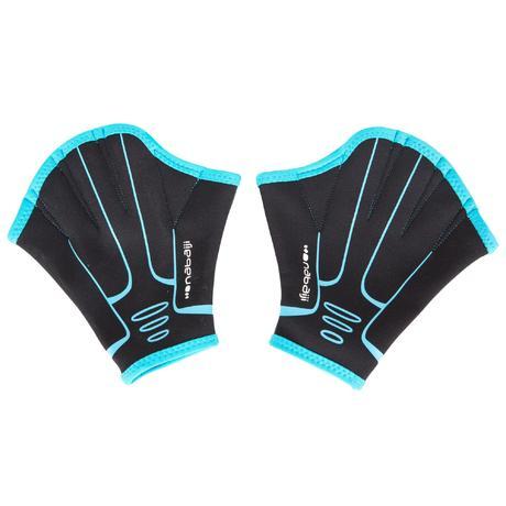 Webbed Aquafitness Gloves Blue Nabaiji