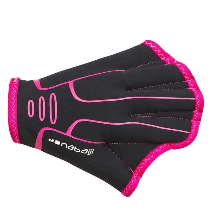 Aquahandschuhe Aquafitness schwarz/rosa