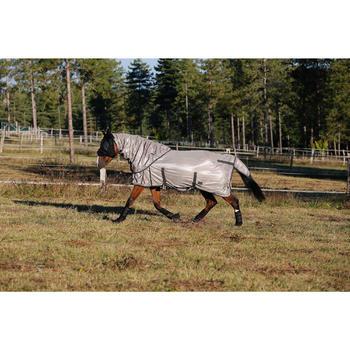 Manta Ligera Antimoscas Equitación Fouganza Beige Poni y Caballo